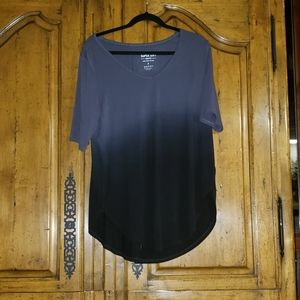 Super soft grey dip dye tunic 2x nwot